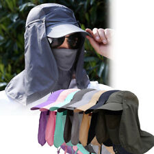 Outdoor UV Protection Ear Flap Full Face Neck Cover Sun Hat Cap for Men Women