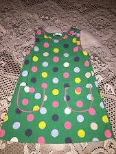 Girls Clothes Baby Boden Green Polka Dot Corduroy Jumper Dress size 2-3 Y