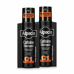 Alpecin Caffeine Shampoo C1 Black Anti Hair-Loss for Men with Taurine 2x 250ml