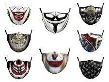 Adult Unisex Masks Horrific Skull Hip Hop Fancy Joker Face Shields PM2.5 Filters