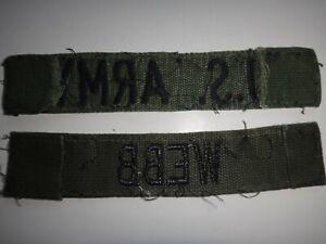2 Vietnam Guerre Vert Od Attenué Correctifs : AMÉRICAIN Armée Poche Bande + Webb