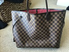 100% AUTHENTIC Louis Vuitton Neverfull GM Damier Ebene Brown Canvas Tote