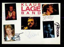 Klaus Lange Band  Autogrammkarte Original Signiert ## BC 95895