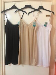 BHS Underskirt FULL SLIP   Nude Black or White 8 24 BNWT