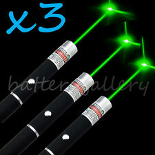 3PCS Green Light Beam Powerful 5MW Laser Pointer Pen