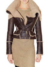 SPECTACULAR NWT BURBERRY PRORSUM BROWN AVIATOR SHEARLING/LEATHER BOMBER JACKET