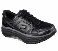 Slip Resistant Black Skechers Shoes Women Work Memory Foam 77218 Rocker EHHazard