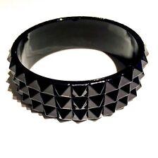 Black Spike Emo Goth Punk Chunky Cuff Bracelet Bangle Fashion Accessorises Gift