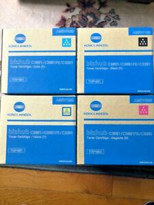 🔥Genuine Konica Minolta Toner Set TNP49 CMYK Bizhub C3851 C3851FS C3351🔥