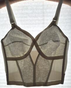 Vintage House of Satin Nude Lace Foundation Bra 32C