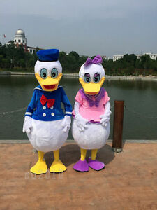 Xmas Hot Sale Donald & Daisy Duck Mascot Costume Adult Size Outfits Dress Parade