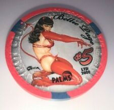 Palms Casino Las Vegas Nevada $5 Chip Playboy SEXY Bettie Page Limited Edition