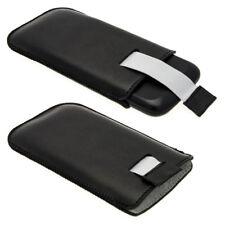 Nero Pelle Pouch per Samsung Galaxy Ace 2 & 3 I8160 S7275 Custodia Case Cover
