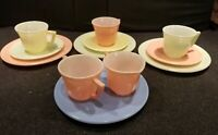 🔴Vintage Tea Party Set Hazel Atlas Little Hostess Child cups plates 12 Pieces