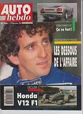 AUTO HEBDO N°868.1993. ESSAI DIABLO.ESCORT RS COSWORTH FOCHESATO. RALLYE SUEDE