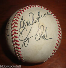 1995/1996 CALGARY CANNONS PCL Team Signed Baseball Oglivie + 11 Sigs