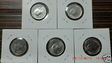 Singapore 1971 Aluminum FAO 5 cts Coin (Lot of 5 pcs)