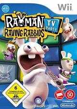 Rayman Raving Rabbids: TV party-Nintendo Wii-sólo usado CD
