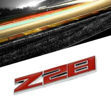 Red/Chrome Z28 Logo Sign Turbo Engine Sport Car Badge Emblem Decal Plate w/ 3M