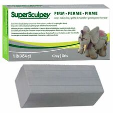 Super Sculpey Firm Gray Oven Bake Clay, 1 Lb/454 G - - Best Fresh Clay Polyform