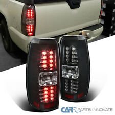 Fit 07-12 Chevy Avalanche Pickup Black LED Tail Lights Brake Lamps Left+Right