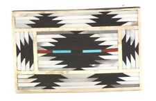 Mop Inlay by Charlotte/Pat Dishta Zuni Handmade Belt Buckle Turquoise Coral