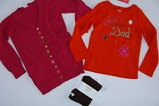Gymboree Fall Homecoming Girls Size 5-6 Sweater Leggings Top Mad about Dad NWT