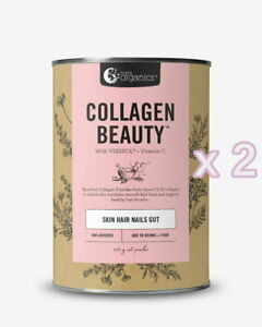 2 x New Nutra Organics Collagen Beauty Skin Hair Nails Gut Unflavoured 450g