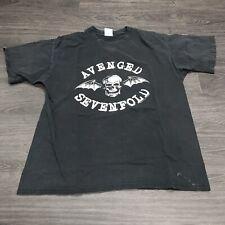 Avenged Sevenfold Punk Rock T-Shirt Men's L Band Tee 2000's 00's era Skull