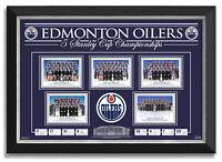 Edmonton Oilers 5 Stanley Cup Championships Team Facsimile Signed Wayne Gretzky