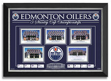 Edmonton Oilers 5 Stanley Cup Championships Team Facsimile Signed Wayne Gretzky