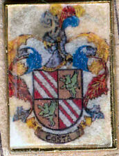 Héraldique BROCHES métallique du nom de famille : COSTA