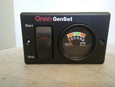 Onan GenSet Start/Stop Switch and Volts Panel, 300-495201, 319-3082