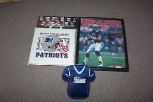"""New England Patriots Lot Beldsoe Autograph 17""""x 21"""" Poster Clock w/COA + 3 more"""