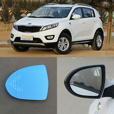 Rear View Mirror Blue Glasses LED Turn Signal Power Heating For Kia Sportage