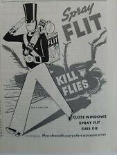1937 FLIT insecticide spray close Windows spray flat flies die vintage ad