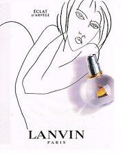 PUBLICITE ADVERTISING 114  2003  LANVIN parfum ECLAT D' ARPEGE