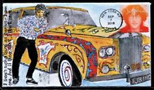 Beatles John Lennon Hand Painted Art Hand Made Psychedelic Rolls Royce  FDC