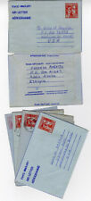 Ethiopia Unusual Group Of 10 Airplane Envelopes