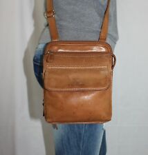 FOSSIL Small Tan Leather Shoulder Hobo Tote Satchel Cross Body Purse Bag