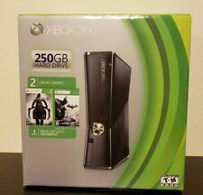 Microsoft Xbox 360 Slim 250 GB HDD Console New + 2 games inside