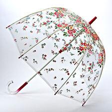 Cath Kidston Jaula De Claro Paraguas Cúpula De Señoras-Thorp Flores Crema
