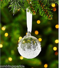 Bnib Swarovski Crystal Annual Edition Christmas Small Ball Ornament 2015 New