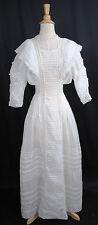 ANTIQUE DRESS c1900-1910 FANCY SHEER TEA SUMMER GARDEN DAY DRESS GOWN