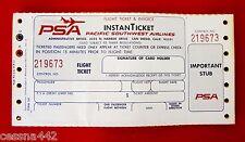 PSA Pacific Southwest Airlines - InstanTicket Flight Ticket & Invoice San Diego