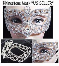 Rhinestone Venetian Mask Masquerade Crystal Party Mask Cat eye Mask *US Seller*