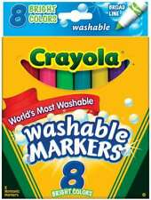 Crayola Broad Line Washable Markers Bright Colors 8/Pkg 071662078195