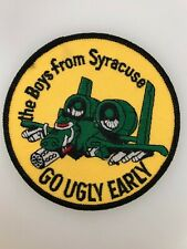 U.S. Air Force A10 Warthog Tank Buster Pilots cloth sleeve patch GO UGLY EARLY