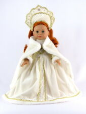 """White Russian Tradition Gown Fits 18"""" American Girl Doll Clothes"""