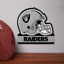 NFL Oakland Raiders Metal Helmet Sign  8 X 8 100% Die Cut Steel Las Vega Raiders